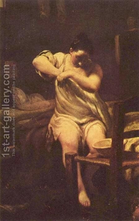 Searching for Fleas by Giuseppe Maria Crespi - Reproduction Oil Painting