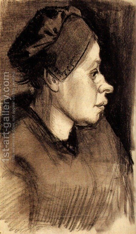 Head of a Woman 9 by Vincent Van Gogh - Reproduction Oil Painting