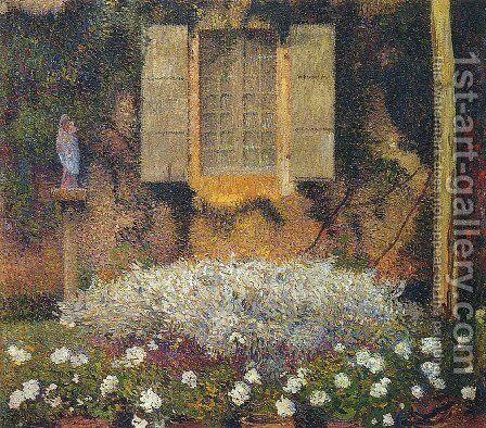 The Window to the Garden by Henri Martin - Reproduction Oil Painting