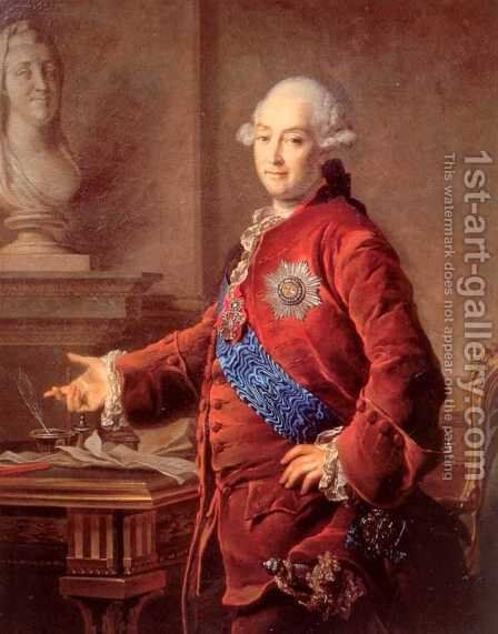Portrait of Alexander Golytsyn by Dmitry Levitsky - Reproduction Oil Painting