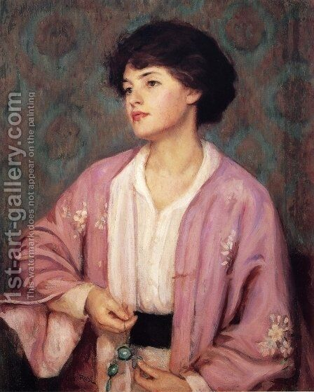 The Lavalier by Guy Rose - Reproduction Oil Painting