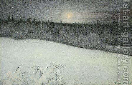 New Years New Moon by Theodor Kittelsen - Reproduction Oil Painting