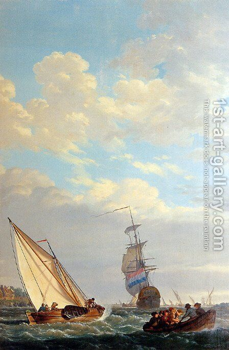 Sailing of the Dordrecht by Abraham van, I Strij - Reproduction Oil Painting