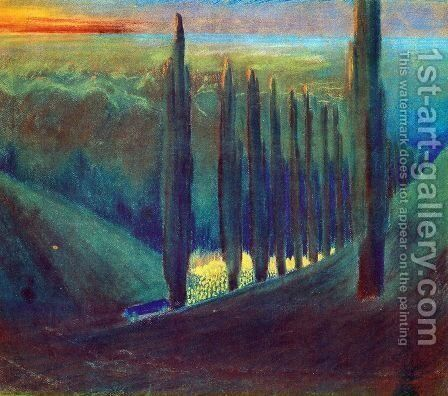 Funeral Symphony (IV) by Mikolajus Ciurlionis - Reproduction Oil Painting