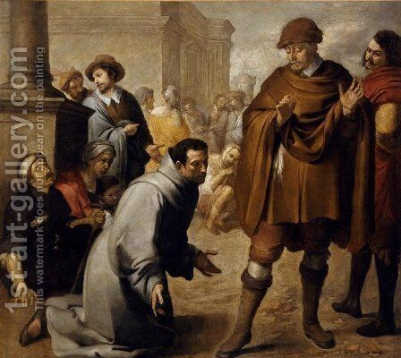 San Salvador de Horta, and inquisitor of Aragon by Bartolome Esteban Murillo - Reproduction Oil Painting