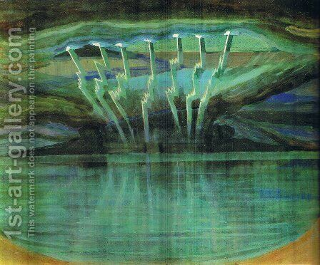 Lightning by Mikolajus Ciurlionis - Reproduction Oil Painting