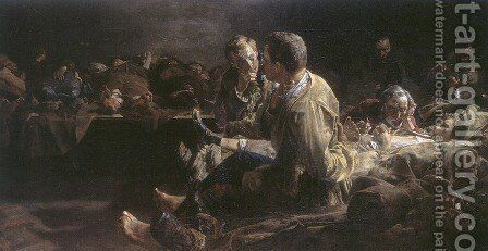 Death on deportees  route to siberia by Jacek Malczewski - Reproduction Oil Painting