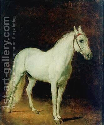 White horse. Study. by Alexander Ivanov - Reproduction Oil Painting