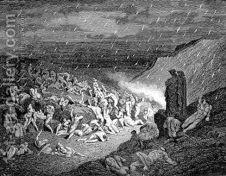 The Blasphemers--Capaneus by Gustave Dore - Reproduction Oil Painting