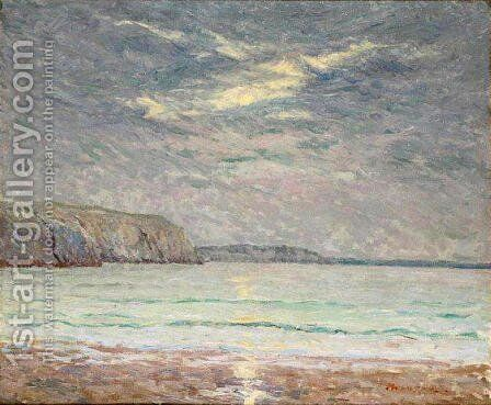 Cliffs at Sunset by Maxime Maufra - Reproduction Oil Painting
