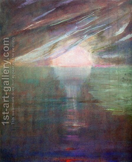Creation of the World XIII by Mikolajus Ciurlionis - Reproduction Oil Painting