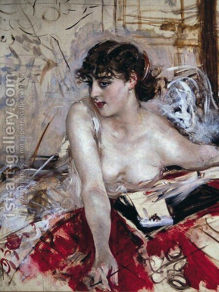Morning letter by Giovanni Boldini - Reproduction Oil Painting