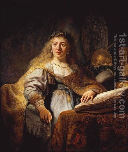 Minerva 2 by Rembrandt - Reproduction Oil Painting