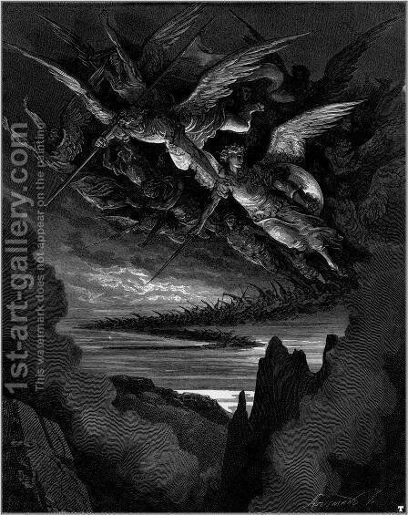 Paradise Lost 3 by Gustave Dore - Reproduction Oil Painting