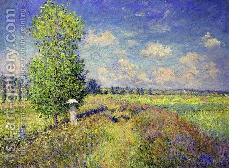 The Summer, Poppy Field by Claude Oscar Monet - Reproduction Oil Painting