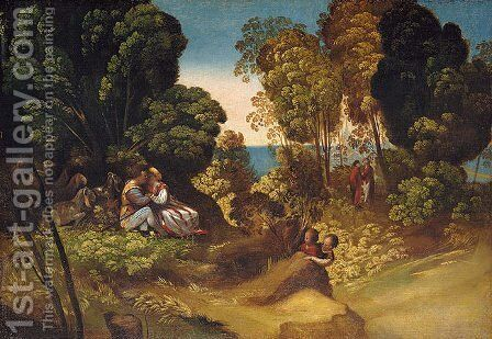 The Three Ages of Man by Dosso Dossi (Giovanni di Niccolo Luteri) - Reproduction Oil Painting