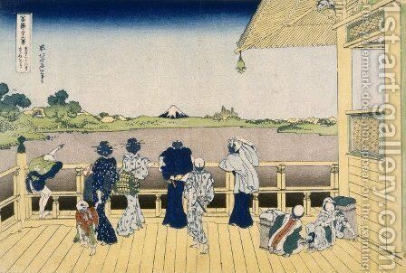 Fuji from the Platform of Sasayedo by Katsushika Hokusai - Reproduction Oil Painting