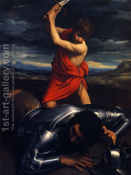 David and Goliath by Guido Reni - Reproduction Oil Painting