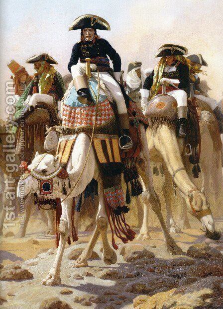 General Bonaparte with his Military Staff in Egypt 2 by Jean-Léon Gérôme - Reproduction Oil Painting