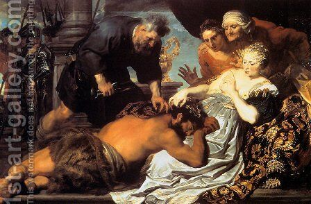 Samson and Delilah by Sir Anthony Van Dyck - Reproduction Oil Painting