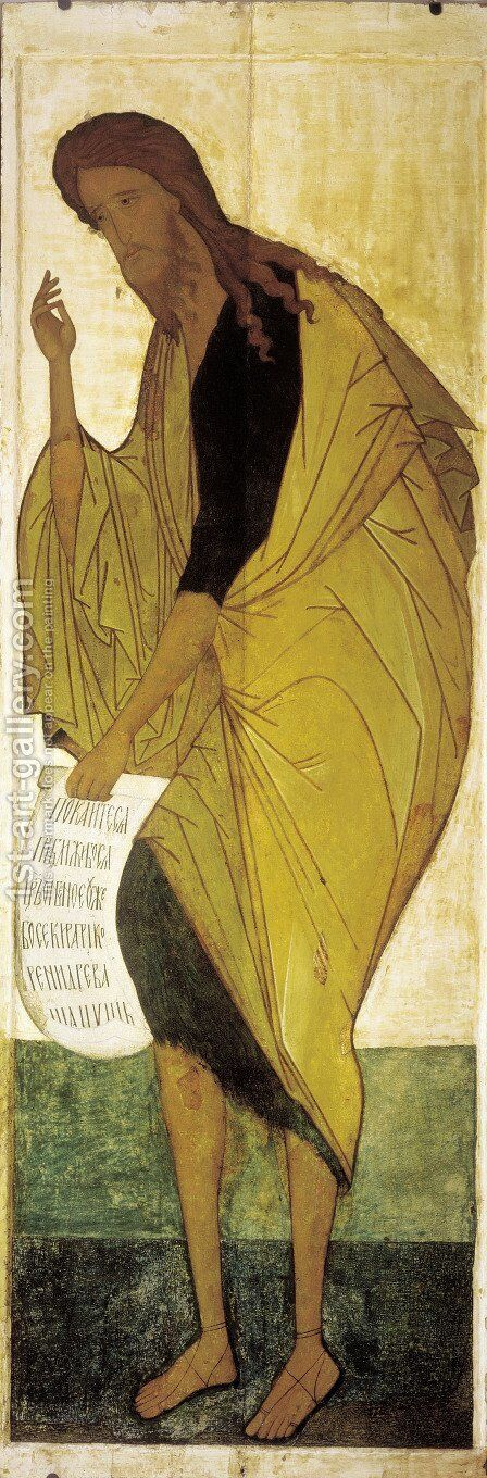 Saint John the Baptist by Andrei Rublev - Reproduction Oil Painting