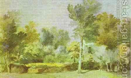 A Meadow, Surrounded by Trees by Sir Anthony Van Dyck - Reproduction Oil Painting