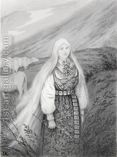 Hulder by Theodor Kittelsen - Reproduction Oil Painting
