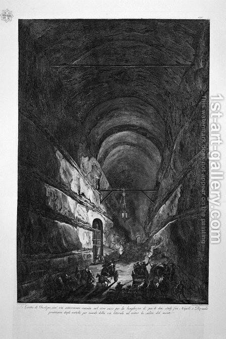 The Windmill at Castel S. Angelo, design of L Despres 2 by Giovanni Battista Piranesi - Reproduction Oil Painting