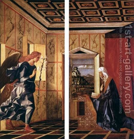 The Annunciation by Giovanni Bellini - Reproduction Oil Painting