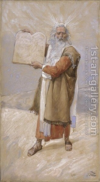 Moses and the Ten Commandments by James Jacques Joseph Tissot - Reproduction Oil Painting