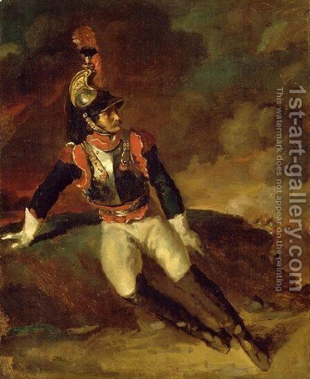 The Wounded Cuirassier by Theodore Gericault - Reproduction Oil Painting