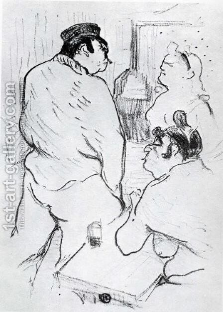 The Terror of the Grenelle Grenelle by Toulouse-Lautrec - Reproduction Oil Painting