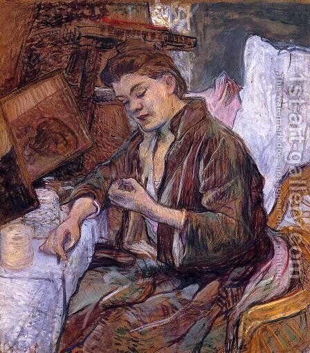 The Toilet Ms. Fabre by Toulouse-Lautrec - Reproduction Oil Painting