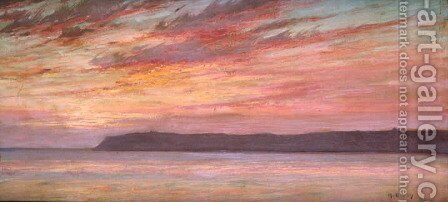 Point Loma Sunset by Maurice Braun - Reproduction Oil Painting