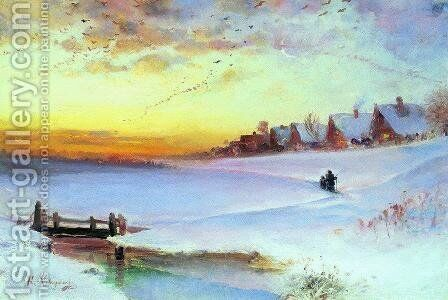 Winter Landscape (Thaw) by Alexei Kondratyevich Savrasov - Reproduction Oil Painting