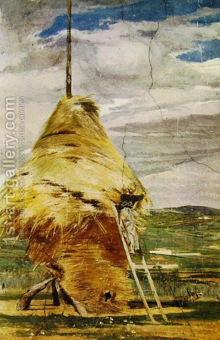 Haystack by Giovanni Boldini - Reproduction Oil Painting