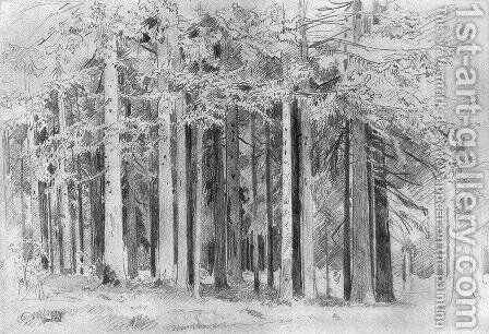 Forest 4 by Ivan Shishkin - Reproduction Oil Painting