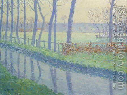 Trees by the River 3 by Gustave Loiseau - Reproduction Oil Painting