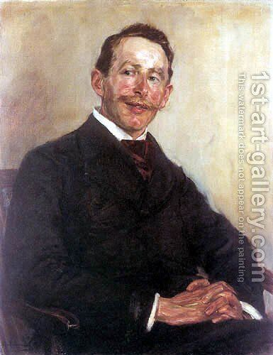 Portrait of Dr. Max Linde by Max Liebermann - Reproduction Oil Painting