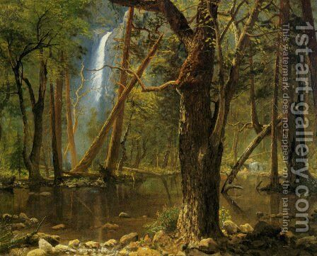 View in Yosemite Valley by Albert Bierstadt - Reproduction Oil Painting