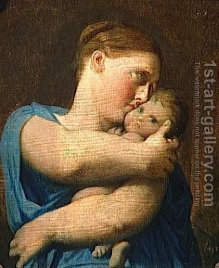 Woman and Child. Study for the Martyrdom of Saint Symphorien by Jean Auguste Dominique Ingres - Reproduction Oil Painting