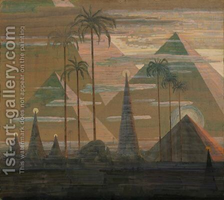 Andante (Sonata of the Pyramids) by Mikolajus Ciurlionis - Reproduction Oil Painting
