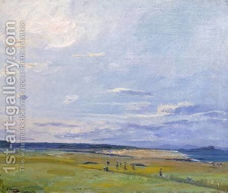 The Golf Course, North Berwick by Sir John Lavery - Reproduction Oil Painting