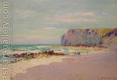 Cliffs at Petit Dalles, Normandy by Gustave Loiseau - Reproduction Oil Painting