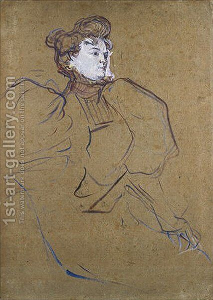 Portrait of Misia Natanson by Toulouse-Lautrec - Reproduction Oil Painting
