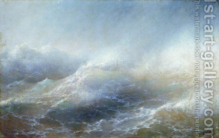 Sea view 5 by Ivan Konstantinovich Aivazovsky - Reproduction Oil Painting