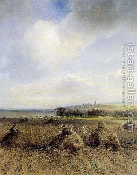 By late summer, on the Volga by Alexei Kondratyevich Savrasov - Reproduction Oil Painting
