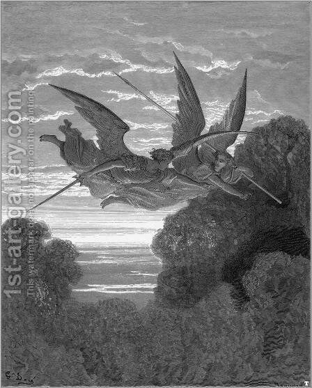 Paradise Lost 4 by Gustave Dore - Reproduction Oil Painting