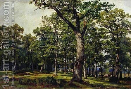 Oak forest 2 by Ivan Shishkin - Reproduction Oil Painting