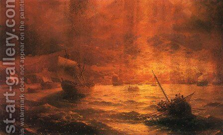 The Ruins of Pompeii by Ivan Konstantinovich Aivazovsky - Reproduction Oil Painting